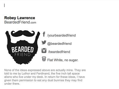 Bearded Friend Email Signature bearded friend email signature beard bearded signature