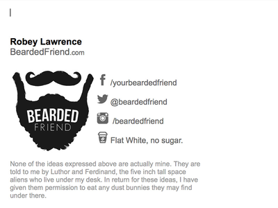Bearded Friend Email Signature bearded friend email signature beard bearded signature