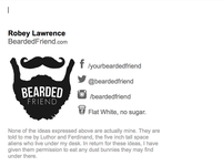 Bearded Friend Email Signature