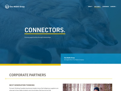 Des Nedhe Website desktop first nations indigenous animal nature web design website