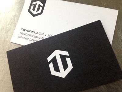 Trevor Wall Business Cards stationery business cards identity design logos