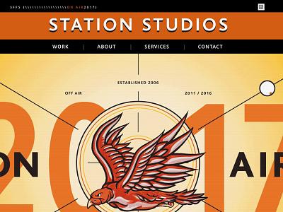 Station ux digital responsive website