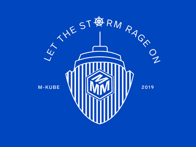 Another design for the product launch at work! t-shirt design lineart royal blue 2019 kubernetes illustration sticker tshirt logo