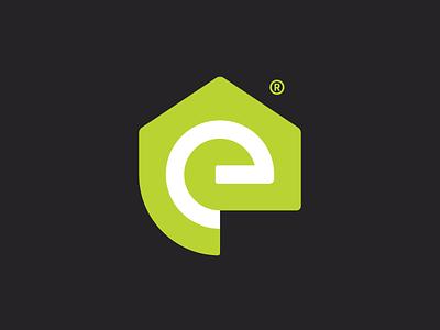Ecovent - Logo Design artangent geometric branding brand identity identity design logotype mark flow clean air logo mark logo design logo home house pure recycling clean air ventilation eco