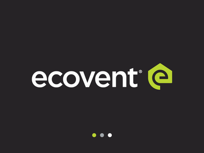 Ecovent - Logo Design eco ventilation air clean recycling pure house home logo design logo mark clean air flower mark logotype identity design brand identity branding logo geometric artangent