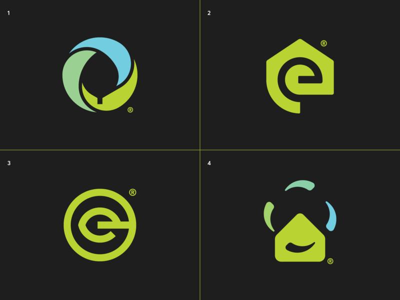 Ecovent - Logo design concepts leaf geometric logo branding brand identity identity design mark logotype logo marks clean air logo mark logo design home house pure recylcing clean air ventilation eco