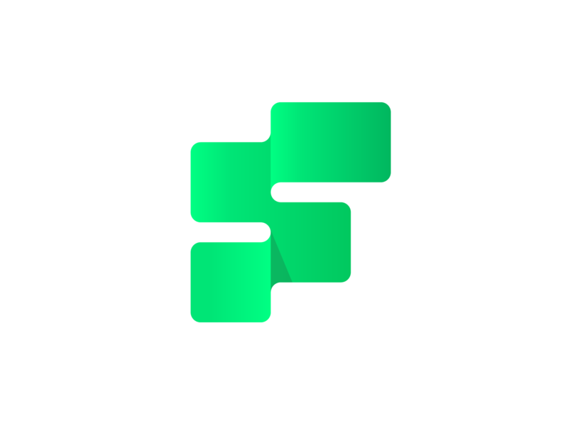 Flow - Logo Design visual identity technology smooth logo design logo brand identity design brand identity blockchain cryptocurrency cryptocurrency tech logo digital geometric lettermark blockchaintechnology blockchain continuity continue flow