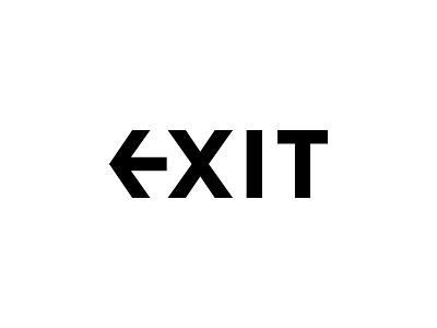 Exit - Wordmark Logo Design logotype design bespoke type clever logo visual identity design signage clean logo artangent logo designer logo design logotype wordmark logo lettering branding brand identity design wordmark exit