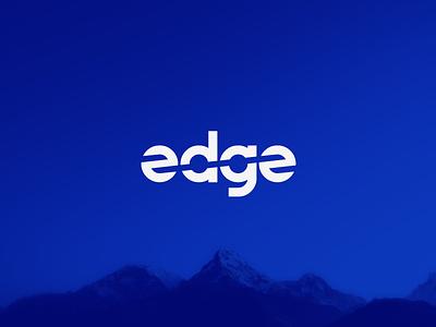 edge graphic  design simple minimal illustrator clean type flat typography branding vector design illustration manufacturing wordmark logo logotype blue cut edge