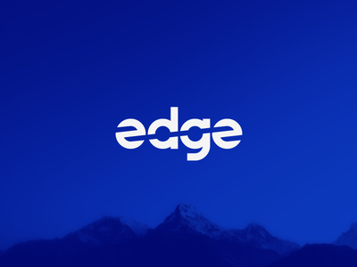 edge graphic  design simple minimal illustrator clean type flat typography branding vector design illustration manufacturing wordmark logo logotype blue cut edge