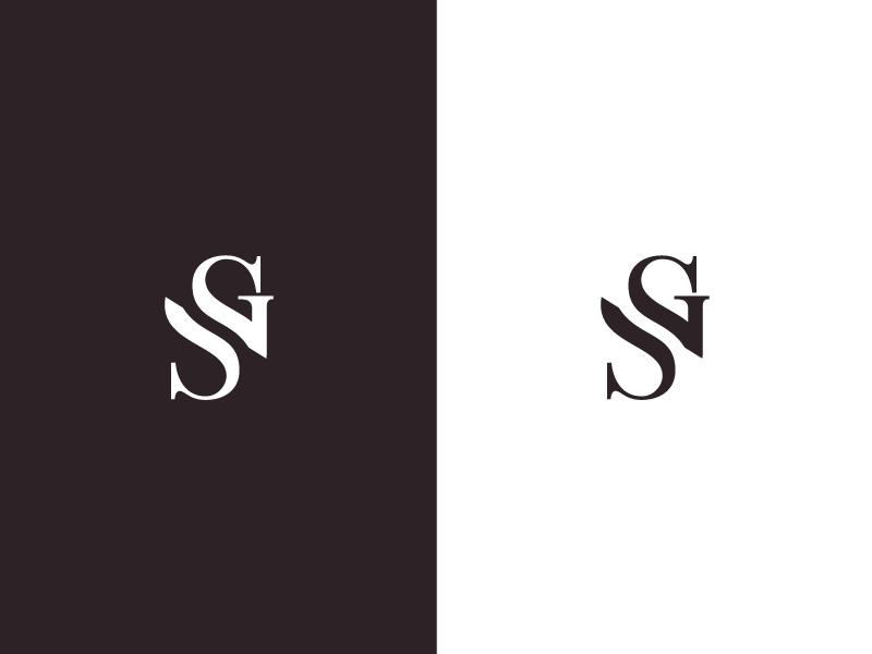 SG Monogram branding artangent mark monogram sg