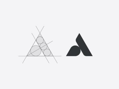 A concept artangent logo mark monogram letter a