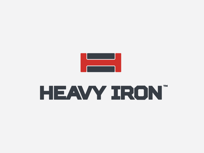 Heavy Iron weightlifting artangent logo powerlifting strenght sport iron heavy