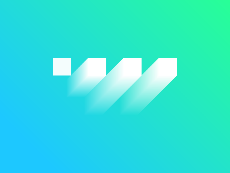 W Lettermark logo designer web growth design icon illustration logo vector branding flat clean graphic design illustrator logotype minimal simple icons geometric lettermark monogram