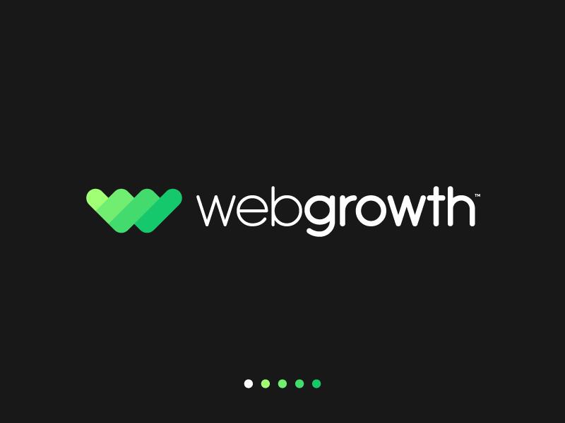 WebGrowth logo designer monogram lettermark geometric icons simple minimal logotype illustrator graphic design clean flat branding vector logo illustration icon design growth web
