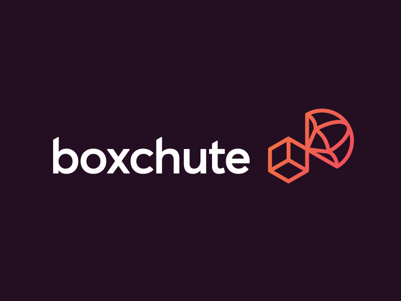 Boxchute geometric icons simple minimal logotype illustrator graphic design clean flat branding vector logo illustration icon design box chute delivery delivery app