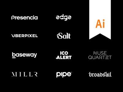 Behance Project - 10 wordmarks illustrator logo design wordmark logo behance project ten 10 wordmark logo lettering letters artangent edge behance