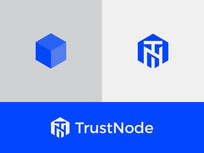 TrustNode cube ico crypto currency crypto geometric icons simple minimal logotype illustrator graphic design clean flat branding vector logo illustration icon design investment