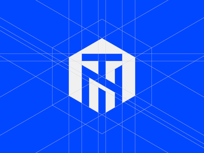 TN - Monogram cube investment design icon illustration logo vector branding flat clean graphic design illustrator logotype minimal simple icons geometric crypto crypto currency ico