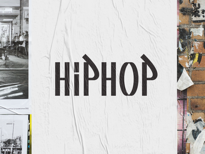Hip Hop Wordmark wordmark culture music street urban graffiti rap hip hop design illustration logo vector branding flat clean illustrator logotype minimal simple geometric