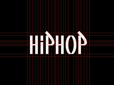 Hip Hop Wordmark geometric simple minimal logotype illustrator clean flat branding vector logo illustration design hip hop rap graffiti urban street music culture wordmark