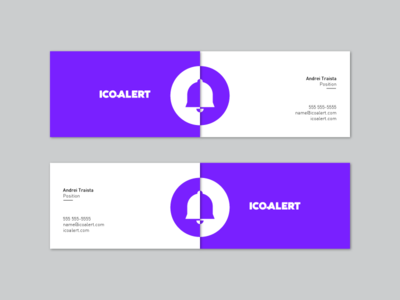 Ico Alert Business Cards