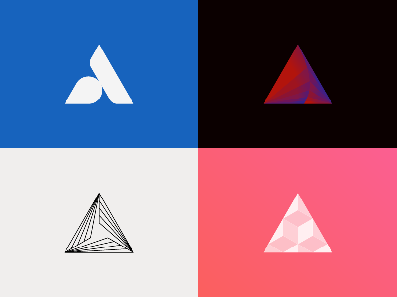 Equilateral Triangles triangle abstract logo logomark equilateral geometric identity artangent simple minimal illustrator clean flat design icon branding branding and identity mark