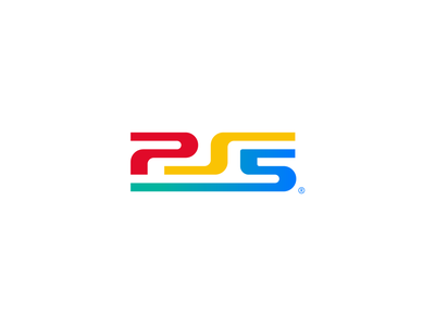 PS5 Classic lettering classic redesign rebrand type wordmarks brand identity branding five wordmark logotype logo ps5 ps4 games next gen gaming sony playstation