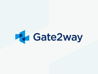 Gate2way - Logo Design pay logodesign identity design brand design brand identity geometric mark logotype logo way gate secure transfer money transfer money gateway ways two payments payment