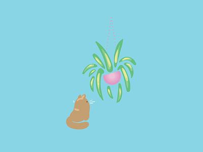 Temptation cat plant