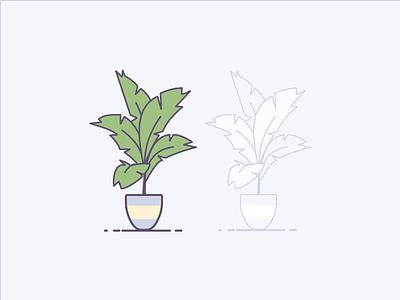 Palms illustration vector plant houseplant tree palm