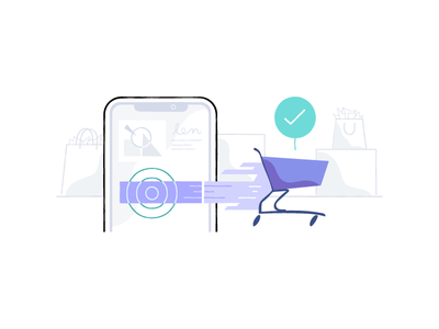 Dynamic checkout button orders mobile money fast sales cart checkout shopify commerce illustration