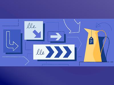 Drive traffic to make sales sales marketing traffic banner header post blog shopify illustration ecommerce
