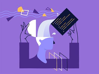 Brain dump ebook cover product design ecommerce shopify illustration