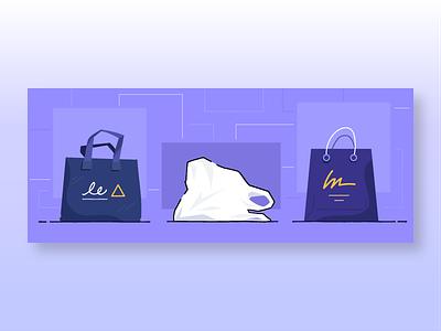 Retail renaissance retail bags marketing design banner ecommerce shopify illustration