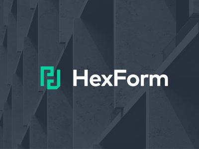 HexForm - Logo Concept logodesign freelance function form hex building hard hat for sale structure forming construction concrete logotype branding brand concept logo hexform