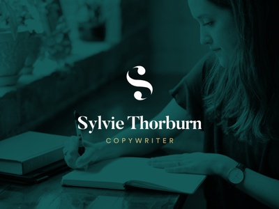 Sylvie Thorburn Logo for sale logo for sale freelance northeast north simplistic simple logotype copywriting copywriter s logo s branding brand logodesign design logo