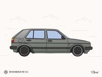 MK2 Golf Illustration