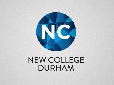 New College Durham - Rebrand Project newcollege durham uk northeast east blue shades gradient logo brand icon iconic branding design education college university circle symbol type simple distinctive