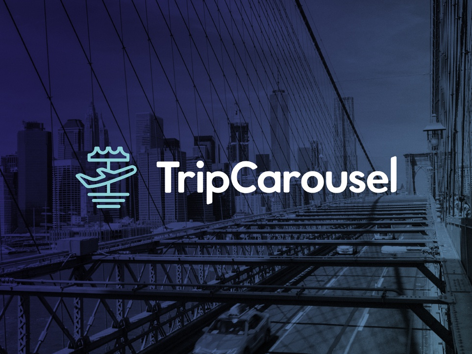 Trip Carousel - Concept identity vector blue typography client work website concept website travel holidays brand identity monogram brand design logo branding