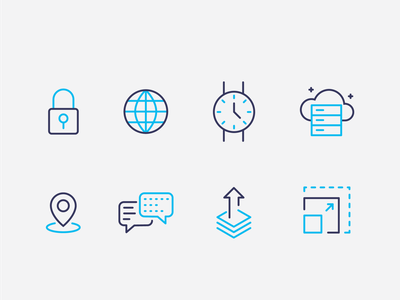 Software Icon Pack ux ui illustration brand fnvi project management app software pipeline oil and gas icon set icon pack icons