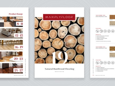 Flooring Collection - Brochure nature tree logs wood print designer brochure layout 2019 logo brand branding design interior natural oak print design brochure flooring