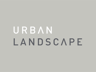 Urban Landscape Logotype identity grey typography type design branding logotypes floor flooring luxury furniture brand logo logotype