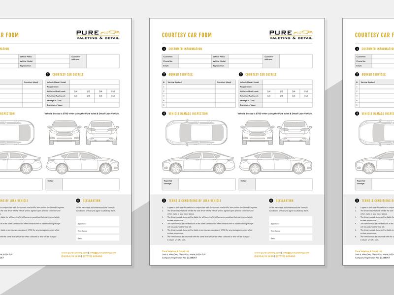 PDF Form Design - Car Valeting