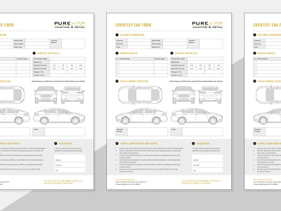 PDF Form Design - Car Valeting detail detailing car uk iconography illustration freelance designer print design form