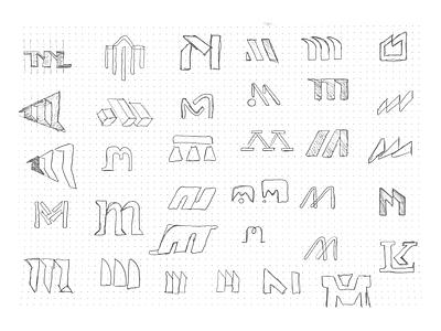 M Logo Concepts vector typography monoline mark marque ident identity design monogram icon brand branding logo