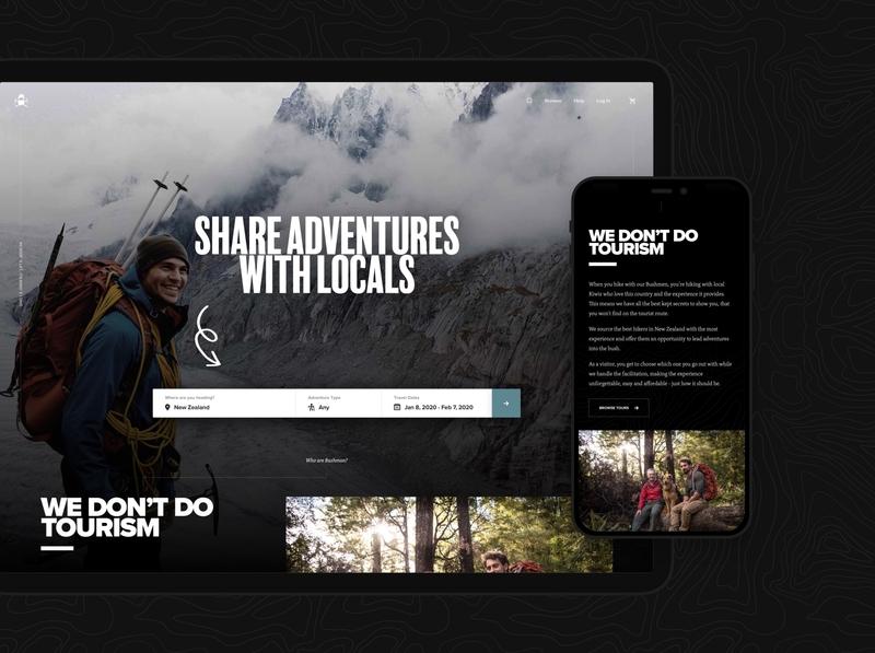 Bushman Tours – Homepage wordpress ecommerce web app ux ui app