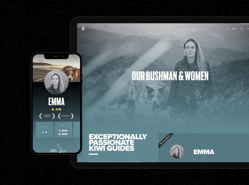 Bushman Tours – Profiles wordpress ecommerce web app ux ui app
