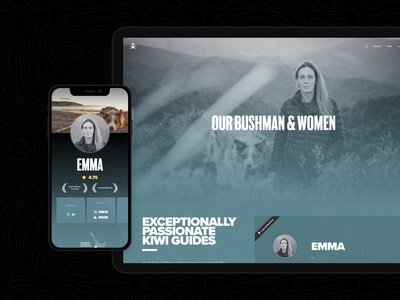 Bushman Tours – Profiles wordpress ecommerce web app ux ui app