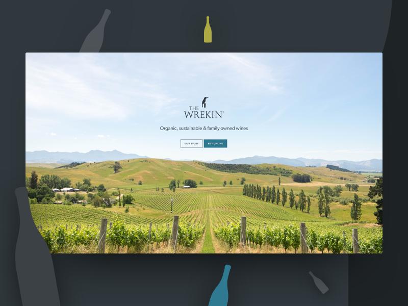 The Wrekin Vineyard vineyard winery web-design